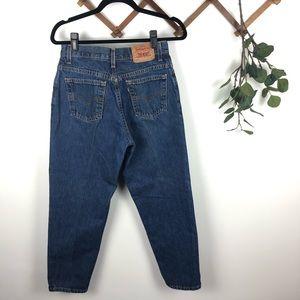 Vintage Dark Wash 550 Levi's High Waist Mom Jeans